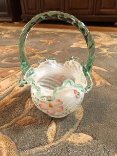 Fenton Floral Basket