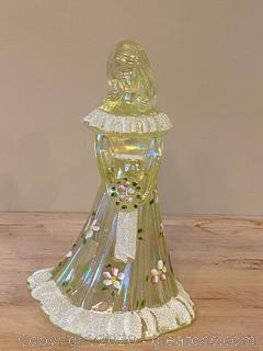 Fenton Green Carnival Glass Bridesmaid