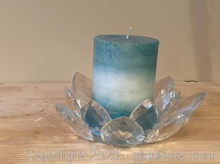 Medium Crystal Candle Holder