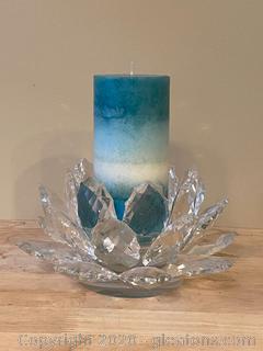 Large Crystal Candle Holder