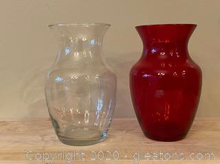 Pair of Glass Vases (B)