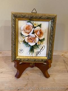 Capodimonte Framed Porcelain Flower