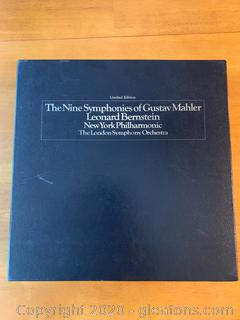 Limited Edition The Nine Symphonies of Gustav Mahler , Leonard Bernstein New York Philharmonic.    The London Symphony Orchestra