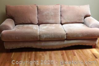 3 Cushion Rolled Arm Sofa with 3 Pillows