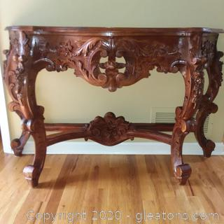 Beautiful Ornate Scrollwork Console/Foyer Table