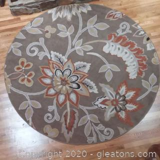 Round Area Rug-Tremont Brown