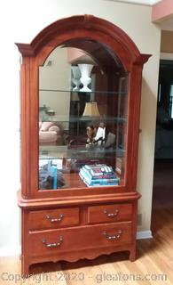 Beautiful Cherry Pennsylvania House Display Cabinet