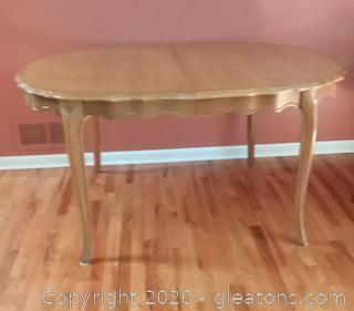 Vintage Dining Room Table with 3 Leaves