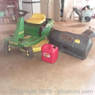 John Deere RX75 Lawn Mower with Bagger