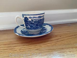 Johnson Brothers Willow Cup and Saucer