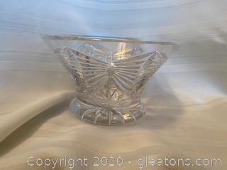 Cut Crystal Footed Pedestal Bowl