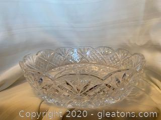 Lead Crystal Serving Dish