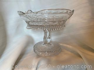 Cut Glass Footed Fruit Bowl
