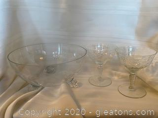 Floral Etched Glassware