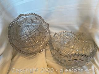 Saw Tooth Glass Fruit Bowl (2)