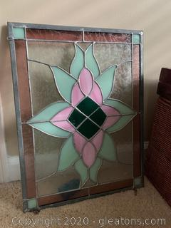 Tiffany Style Stained Glass Panel (B)