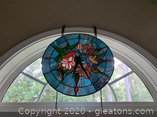 Tiffany Style Stained Glass Clock