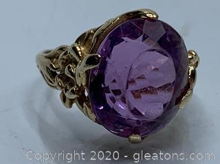 14k 8 carat Amethyst Ring