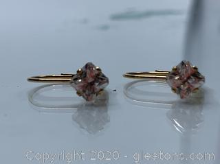 14k 1.3 Grams 1½ Carat Cubic Zirconia Earrings