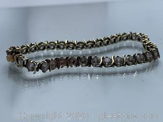 10k Cubic Zirconia Tennis Bracelet