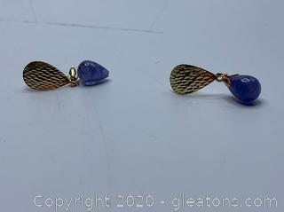 14k Jade Earrings
