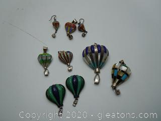 STAMPED Multi Stone And Sterling Hot Air Balloon Jewelry Collection