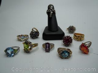Sterling Silver Gemstone Vintage Rings