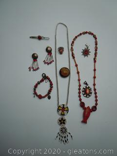 Beautiful Collection Of Southwest And Mexican Jewelry (Red Lot)