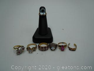 Sterling Silver Vintage Gemstone Rings