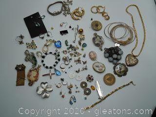 Collection Of Estate Antique And Vintage Costume Jewelry