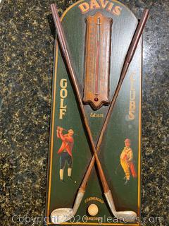Davis Golf Club Wall Hanging Thermometer