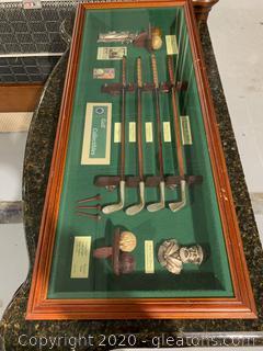 History Of Golf Shadow Box