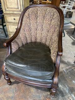 Vangaurd Furniture Leather And Fabric Chair (A)