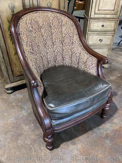 Vangaurd Furniture Leather And Fabric Chair (B)