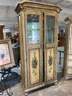 Vintage- Style Illuminated Wine Cabinet