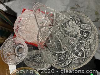 Assortment Of Cut Glass