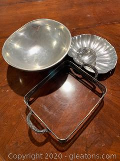 Pewter Serving Dishes