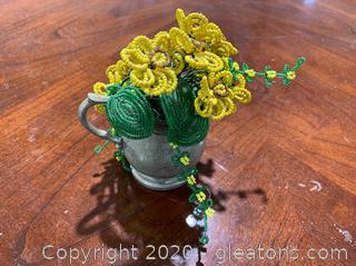 Pewter Flower Vase