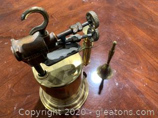Vintage Turner Brass Works Blow Tourch And Bell