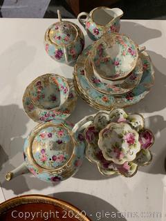 Handpainted Porcelain Tea Set