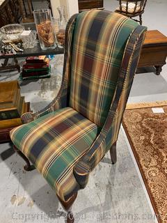 Traditional Highback Accent Chair (B)