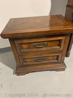 Vintage Wooden Nightstand (A)