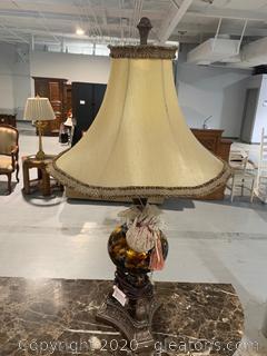Decorative Pedestal Table Lamp (A)