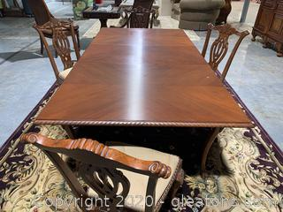 Transitional Ball and Claw Dining Table