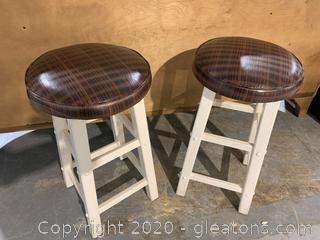 Pair of Cushioned Barstools