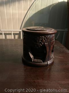 Hand Carved Rosewood Coaster Set