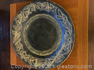 Large Decorative Plate By Montage