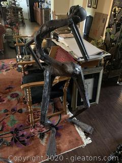 Mambakwedza Mutasa Scrap Metal Art Head In Hand