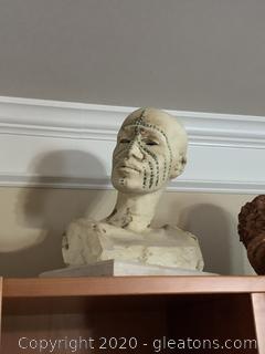 Original Woodrow Nash Bust Sculpture Of African Male