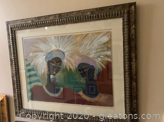 Expressionist Painting Of African Women By Lee White